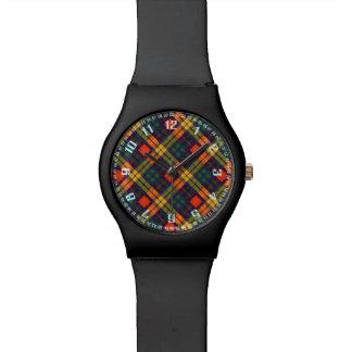 Tartán escocés de la falda escocesa de la tela reloj de mano