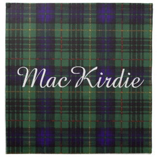 Tartán escocés de la falda escocesa de la tela servilleta