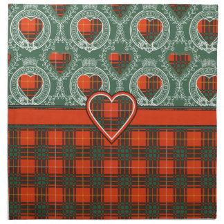 Tartán escocés de la falda escocesa de la tela servilleta imprimida