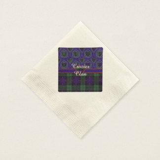 Tartán escocés de la falda escocesa de la tela servilleta desechable