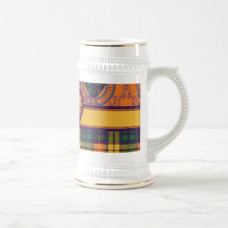 Tartán escocés de la falda escocesa de la tela jarra de cerveza
