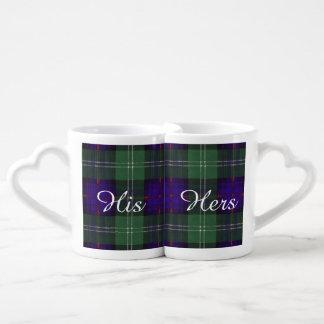 Tartán escocés de la falda escocesa de la tela tazas para enamorados