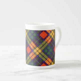 Tartán escocés de la falda escocesa de la tela taza de porcelana