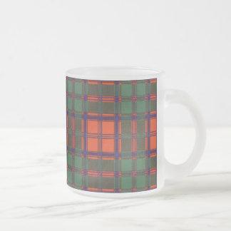Tartán escocés de la falda escocesa de la tela taza de café esmerilada