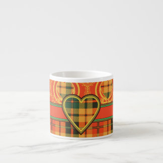 Tartán escocés de la falda escocesa de la tela taza espresso