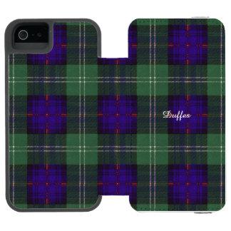Tartán escocés de la falda escocesa de la tela funda cartera para iPhone 5 watson