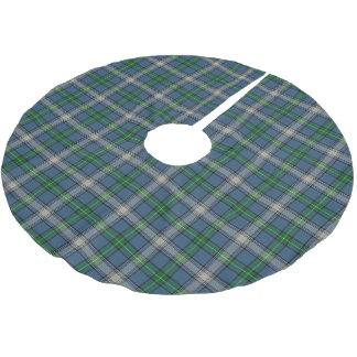 Tartán escocés de MacDowall del clan Falda Para Arbol De Navidad De Poliéster
