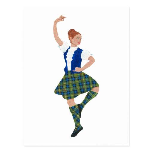 Tartán escocés de MacLaren del bailarín de la mont Tarjetas Postales