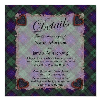 """Tartán escocés del clan de Armstrong - tela Invitación 5.25"""" X 5.25"""""""