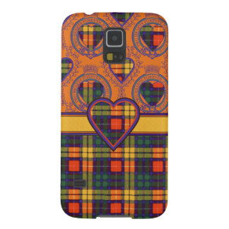 Tartán escocés del clan de Buchanan - tela Funda De Galaxy S5