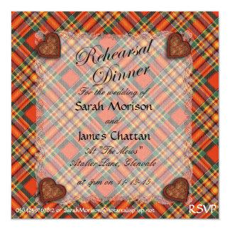 "Tartán escocés del clan de Chattan - tela escocesa Invitación 5.25"" X 5.25"""