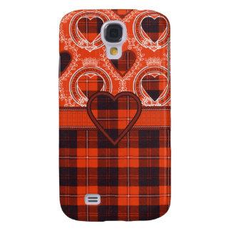 Tartán escocés del clan de Cunningham - tela escoc Funda Para Galaxy S4