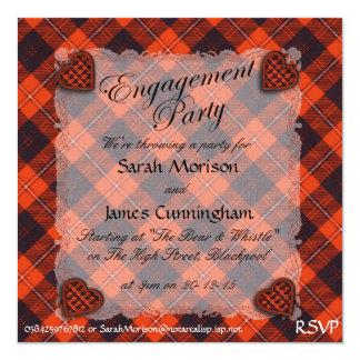 """Tartán escocés del clan de Cunningham - tela Invitación 5.25"""" X 5.25"""""""