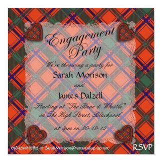 """Tartán escocés del clan de Dalzell - tela escocesa Invitación 5.25"""" X 5.25"""""""
