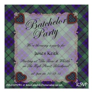 Tartán escocés del clan de Keith - tela escocesa Invitación 13,3 Cm X 13,3cm
