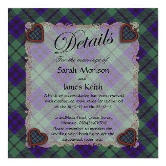 """Tartán escocés del clan de Keith - tela escocesa Invitación 5.25"""" X 5.25"""""""