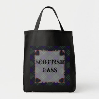 Tartán escocés del clan de Maccallum - tela Bolsa Tela Para La Compra