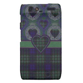 Tartán escocés del clan de Maccallum - tela Motorola Droid RAZR Fundas