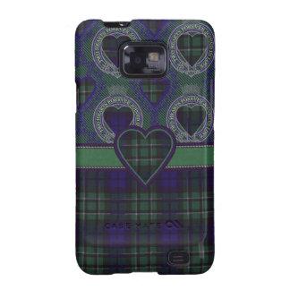 Tartán escocés del clan de Maccallum - tela Galaxy SII Carcasa