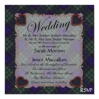 """Tartán escocés del clan de Maccallum - tela Invitación 5.25"""" X 5.25"""""""