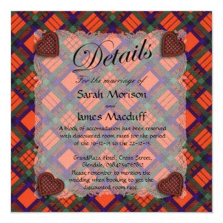 "Tartán escocés del clan de Macduff - tela escocesa Invitación 5.25"" X 5.25"""