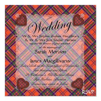 "Tartán escocés del clan de Macgillivary - tela Invitación 5.25"" X 5.25"""