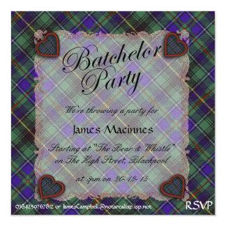 Tartán escocés del clan de Macinnes - tela Invitaciones Personalizada