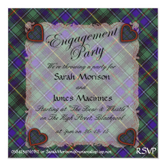 Tartán escocés del clan de Macinnes - tela Comunicado Personalizado
