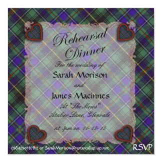 Tartán escocés del clan de Macinnes - tela Invitaciones Personales