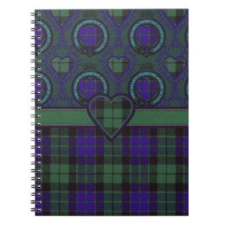 Tartán escocés del clan de Mackay - tela escocesa Libreta Espiral