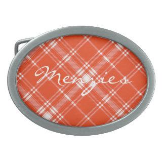 Tartán escocés del clan de Menzies Hebilla De Cinturón