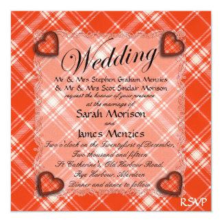 Tartán escocés del clan de Menzies - tela escocesa Invitaciones Personalizada