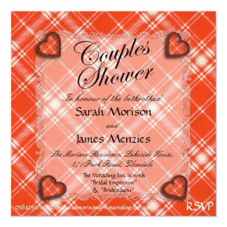 """Tartán escocés del clan de Menzies - tela escocesa Invitación 5.25"""" X 5.25"""""""