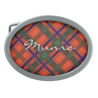 Tartán escocés del clan de Munro - tela escocesa Hebilla Cinturon