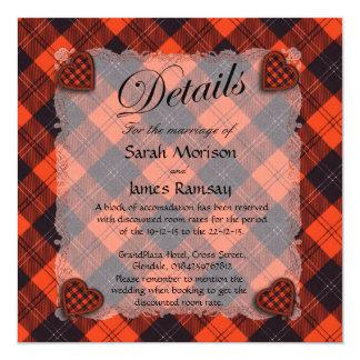 """Tartán escocés del clan de Ramsay - tela escocesa Invitación 5.25"""" X 5.25"""""""