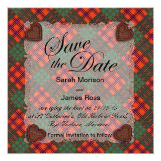 Tartán escocés del clan de Ross - tela escocesa Invitaciones Personalizada