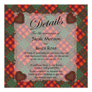 Tartán escocés del clan de Ross - tela escocesa Comunicado Personalizado