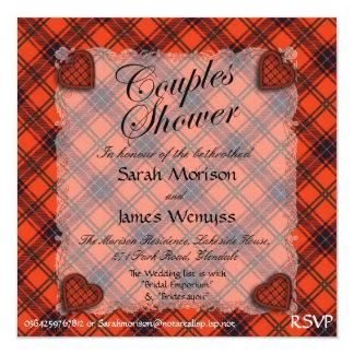 """Tartán escocés del clan de Wemyss - tela escocesa Invitación 5.25"""" X 5.25"""""""
