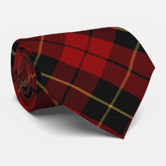 Tartán escocés del monograma de Wallace W del clan Corbata Personalizada