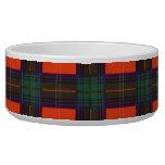 Tartán escocés real - Chisholm Tazones Para Perro