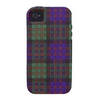 Tartán escocés real - clan de Macdonald iPhone 4 Funda