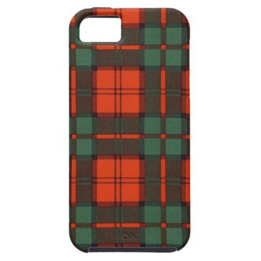 Tartán escocés real - Dunbar - dibujado por Nekoni iPhone 5 Carcasa