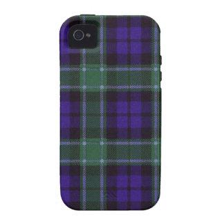 Tartán escocés real - Graham - dibujado por Nekoni iPhone 4/4S Fundas