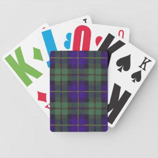 Tartán escocés real - Macleod de Harris Cartas De Juego