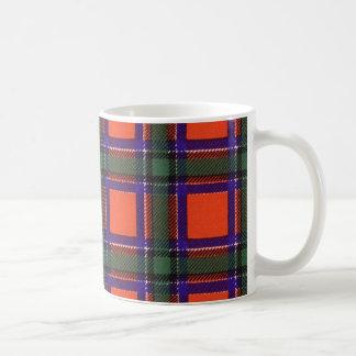 Tartán escocés real - Sinclair Taza Básica Blanca