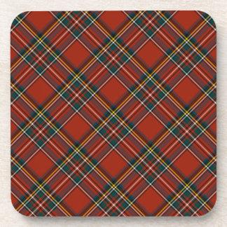 Tartán escocés rojo clásico real de Stewart Posavasos De Bebidas