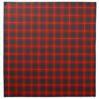 Tartán escocés rojo de MacPhee del clan y verde Servilleta Imprimida
