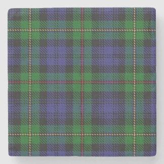 Tartán escocés viejo de MacEwen McEwen del clan de Posavasos De Piedra