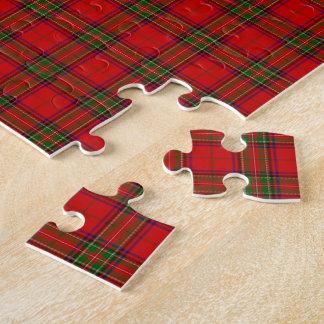 Tartan Fabric Pattern Jigsaw Puzzles