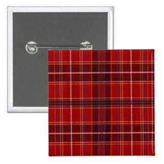 Tartan Fabric Texture 2 Inch Square Button